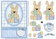 Baby Bunny New Baby Boy Decoupage