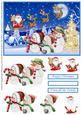 Snowman Family on Christmas Eve Decoupage