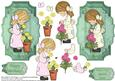 Flower Girls Toppers and Decoupage Mum