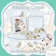 Wedding Couple Double Twisted Easel Card Kit