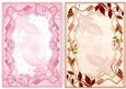 2 A5 Decorative Card Fronts Pink & Cream