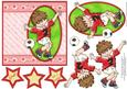 No. 1 Striker Red Football Decoupage