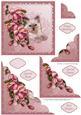 Kitten & Blush Rose Scallop Corner Stacker