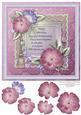 8x8 Raspberry & Mint Florals Topper & Decoupage