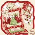 3 Christmas Trees Easel Card Kit