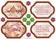 Vintage Christmas Scenes Toppers & Insert Plaques Red 1