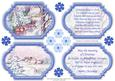 View VINTAGE CHRISTMAS SCENES Toppers & Insert Plaques Blue 1 Details