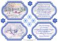 View VINTAGE CHRISTMAS SCENES Toppers & Insert Plaques Blue 2 Details