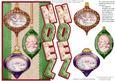Vintage Christmas Baubles Over the Side Noel