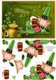 St Patrick's Day Leprechaun Card Topper & Decoupage