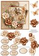 Brown Florals Jigsaw Card & Decoupage