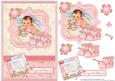 New Baby Girl & Bootees Vintage Decoupage