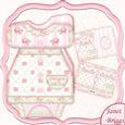 Baby Girl Dress Shaped Card Mini Kit