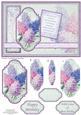 Vintage Lilacs Birthday Card Topper & Pyramage