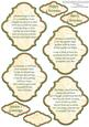 Christmas Plaques & Verses in Red Gold Green