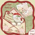 Purrfect Christmas Envelope Peeper Card Mini Kit