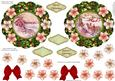 Easy Cut Quick Christmas Wreath Vintage Toppers