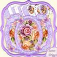 Rose Splendour Double Pop Out Card Kit with Pyramage