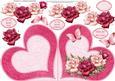 Love Roses Heart Shaped Card & Decoupage