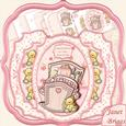 New Baby Girl Double Pop Out Card Kit & Decoupage