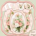 Peach Carnations Double Pop Out Card Kit