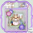 Mummy Mouse Reading 8x8 Mini Kit with Decoupage