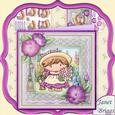 Little Lou in the Garden 8x8 Mini Kit with Decoupage