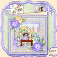 Cherished Moments in the Garden 8x8 Mini Kit with Decoupage