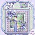 Vintage Lady in Woods & Porcelain Roses 8x8 Mini Kit