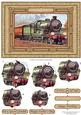 Vintage Steam Train Quick Card Topper & Pyramage