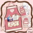 Crafters Apron Ladies Tent Card Mini Kit