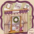 Christmas Window Aperture 8x8 Mini Kit Winter Scene 1