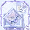 Christmas Winter Florals Diamond Front Mini Kit & Decoupage