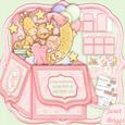 """New Baby Girl Pop Up Box Card 7.5"""""""