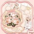 Pastel Roses Large Easel Card Kit & Decoupage 7.5""