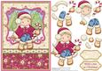 Christmas Chloe with Candy Cane Card Topper & Decoupage