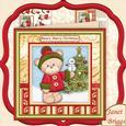 Barclay Bear & Snowman Christmas Mini Kit & Decoupage