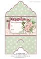 Christmas Money Wallet Shabby Chic Florals