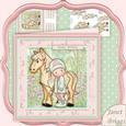Horse Riding Chloe 8x8 Mini Kit & Decoupage