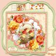 Rose Basket 8x8 Mini Kit & Decoupage