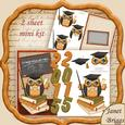 Graduation Owl 2015 Over the Side Mini Kit & Decoupage