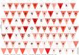 Alphabet Bunting Red Letters Numbers & Blanks