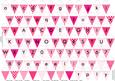 Alphabet Bunting Hot Pink Letters Numbers & Blanks