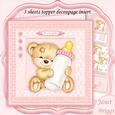 New Baby Girl Bear & Bottle 8x8 Mini Kit