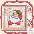 Shabby Chic Christmas Santa 8x8 Mini Kit & Decoupage