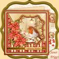 Robin in Lamplight Christmas 7.5 Decoupage Mini Kit