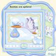 Baby Boy Special Delivery Stork 8x8 Decoupage Mini Kit