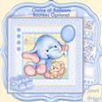 New Baby Boy Elephant 8x8 Decoupage Mini Kit & Birthday Ages