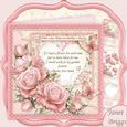 Thank You Mum Verse & Pink Roses 8x8 Decoupage Mini Kit