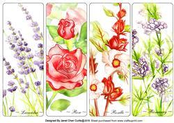 My Herbal Garden Bookmarks